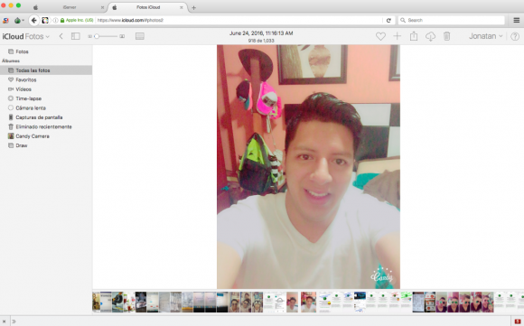 Jonatan, in a selfie he uploaded to his iCloud account, which he gave away the credentials to because the web site where his phishing service provider was hosted no virtually no security to speak of.