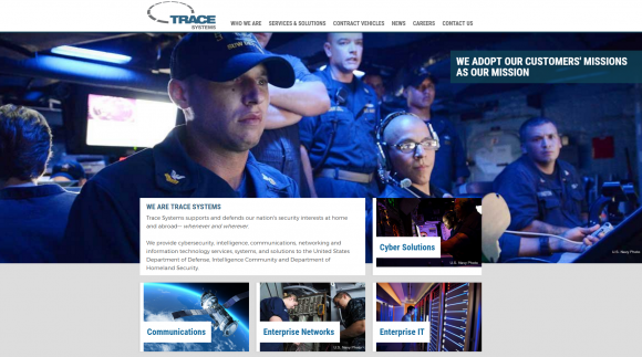 The home page of Trace Systems.