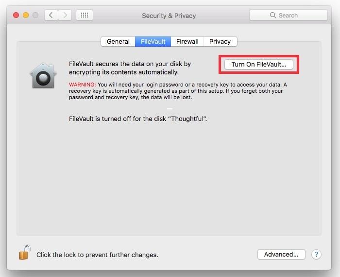 4. encrypt laptop data
