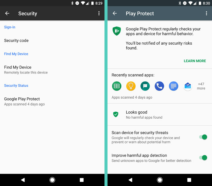 Google Play Protect Android