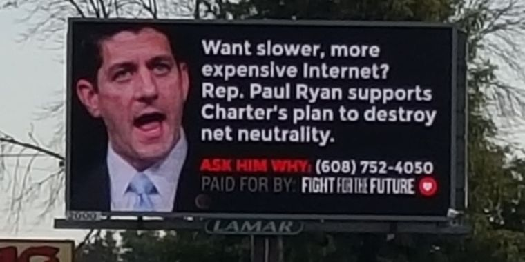 GOP Lawmakers Shamed On Billboards Over Net Neutrality