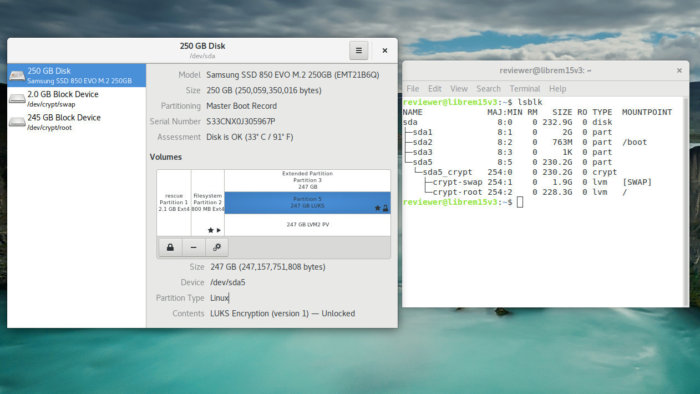 purism librem 15v3 partition scheme