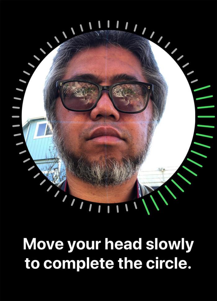 iphone x face id setup