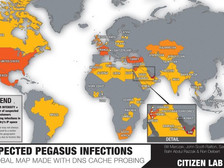 """Lawful Intercept"" Pegasus Spyware Found Deployed In 45 Countries"
